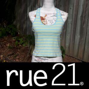 size L Rue21 racerback striped tank top